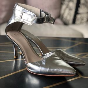 Cole Haan, Highline Ankle Strap Pump Silver 8.5